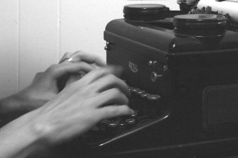 Kristin typing